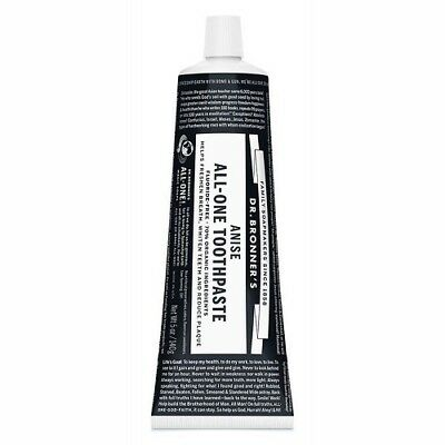NEW Dr. Bronner's Toothpaste Anise (Organic) ~ 140g