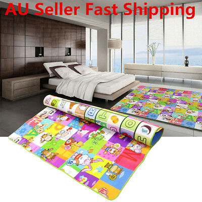 2mx1.8m Baby Kids Play Mat Foam Floor Rug Activity Crawl Alphabet Animal Blanket