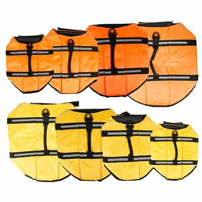 Pet Dog Life Jacket Swimming Float Vest Adjustable Buoyancy Aid S M L XL
