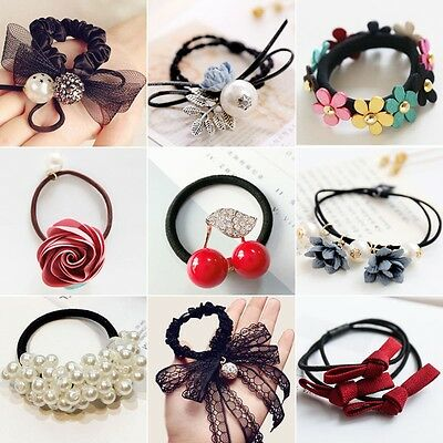 Women's clothing Fashion  Accessories Girls Hair Ties  Hair Band Ponytail Holder