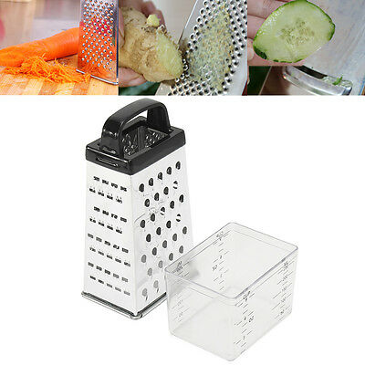 Grater Box Stainless Steel 4 Sided Multi Funtion Cheese Vegetable With Container