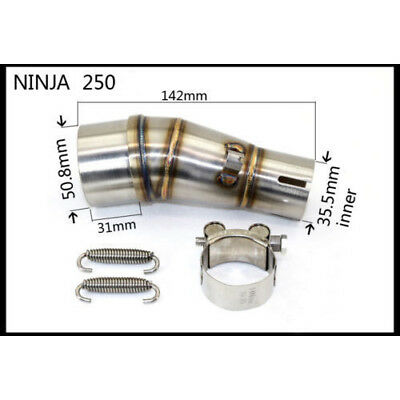 Motorcycle Exhaust Pipe Connecting Middle Pipe Mid Tube Link Pipe for Ninjia 250