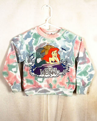 vtg 80s 90s retro Kids Disney's The Little Mermaid Sweatshirt disney SZ XS