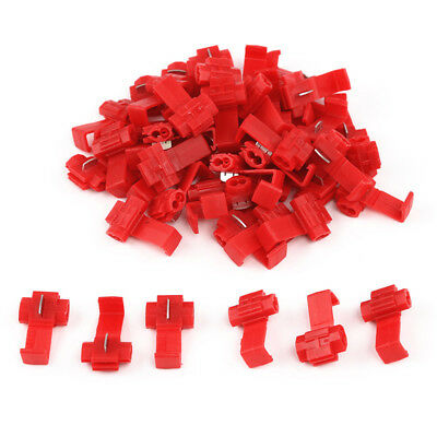 50x RED QUICK SPLICE SCOTCH LOCK WIRE CONNECTORS ELECTRICAL CABLE JOINTS AUTO