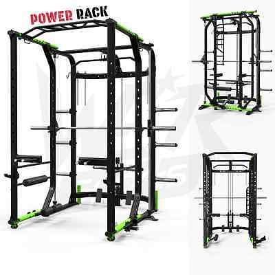 We R Sports Power Rack Home Gym Crossfit Smith Machine Lat Pull Down Pull Ups