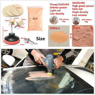 8P Car Window& Windscreen Glass Polishing Kit Removal Adapter Care Cleaning Tool