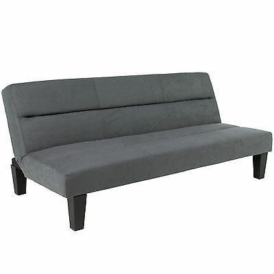 Best Choice Products Microfiber Futon Folding Couch Sofa Bed Gray