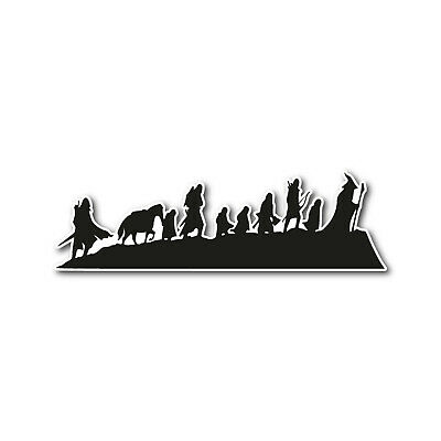 Lord of the Rings Inspired Decal Sticker Car Window Wall Bumper Hobbit LOTR