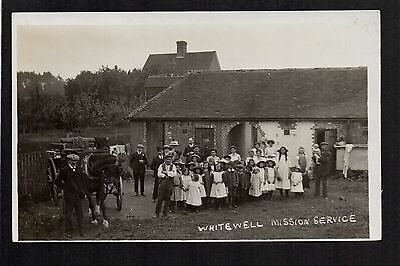 Whitewell Mission near Bangor Isy Coed - real photographic postcard