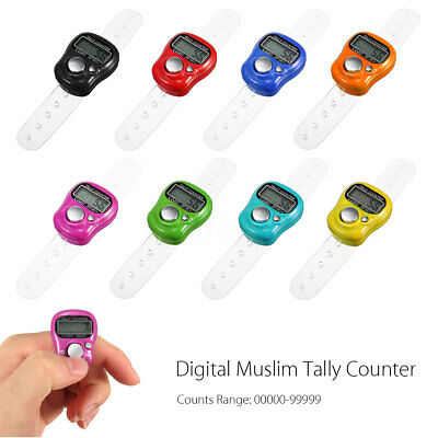 Electronic 5 Digits Islamic Muslim Tally Finger LCD Hand Held Ring Counter