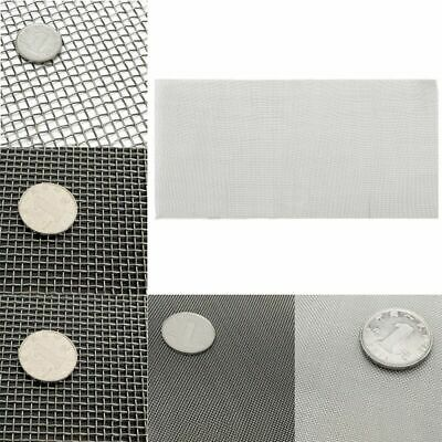 5/8/20/30/40 Mesh Stainless Steel Woven Cloth Wire Screen Filter Sheet 6x12''