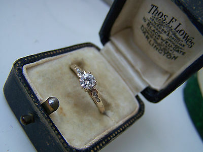 Superb 9Ct Gold .40 Carat Solitaire Diamond Looklike Engagement Dress Ring O