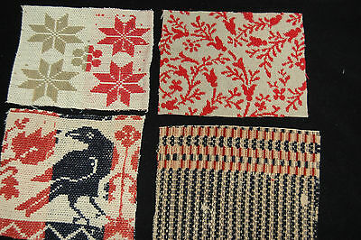 Great Crafting Lot Antique Coverlet Pieces for Pillows Stockings Appliques - B