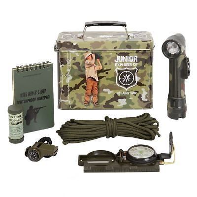 Kids Army Junior Explorer Kit Camouflage Military Roleplay