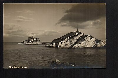 Mumbles Head - real photographic postcard