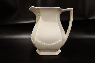 Vintage Wm Adams & Sons Real English Ironstone Micratex Pitcher White