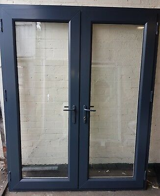 External upvc anthracite grey double glazed french doors for Upvc french doors grey