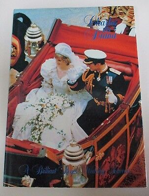 'Charles and Diana: A Brilliant Royal Wedding Souvenir' - Hardcover Book - 1981
