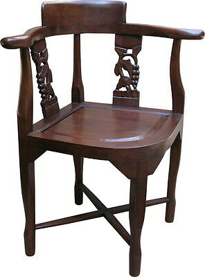 Solid Mahogany Corner Chair Antique Reproduction NEW CHR024