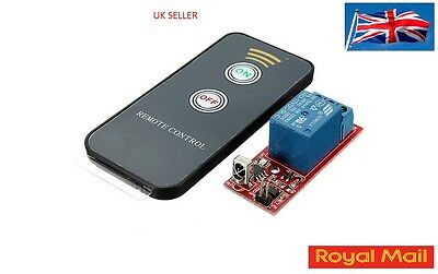 DC 12V IR Infrared 1CH Switch Relay Control Receiver Board + Remote UK #B12