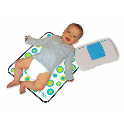 B Box Baby Change Organizer with Changing Mat - Diaper, Wipes & Mat Holder Set