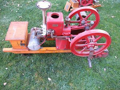 Galloway Antique  Gas flywheel Engine 2 1/4 hp. on trucks igniter engine