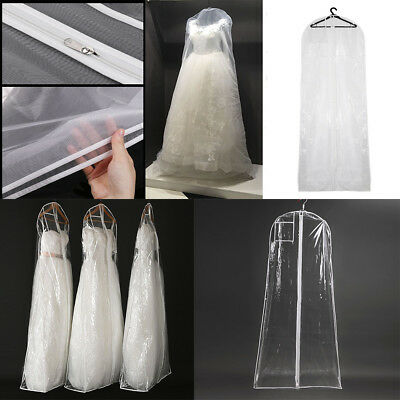 Hanging Suit Bags Garment Storage Cover Wedding Dress Travel Dustproof Protector