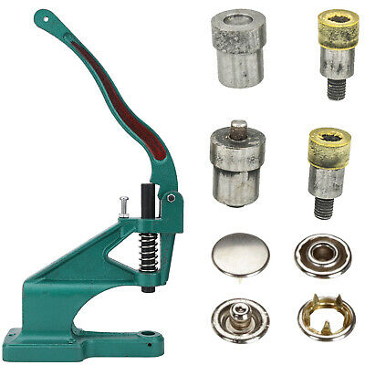 Green Hand Press Machine + Jersey Cap Snap Fastener Poppers Setting Die Set Tool