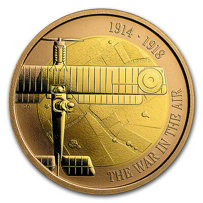 2017 Great Britain £2 Proof Gold First World War Aviation - SKU#152016