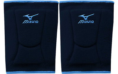 1 Pr Mizuno LR6 Highlighter Navy/Columbia Blue Adult Large Volleyball Knee Pads