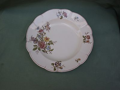 TRES BELLE ASSIETTE CREUSE FAIENCE CERAMIQUE LONGCHAMP DECOR FLORAL FIN 19e