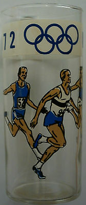 Orig.glass    Olympic Games MÜNCHEN 1972  -  ATHLEICS  !!   VERY RARE