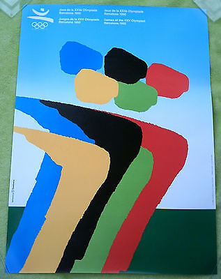 Orig.poster  Olympic Games BARCELONA 1992  -  Edt.M  // 50 x 70cm  !!  VERY RARE