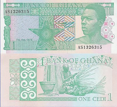 Ghana 1 Cedis Banknote 7.2.1979 Uncirculated Condition Cat#17-A-6315
