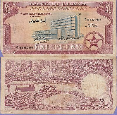 Ghana 1 Pound Banknote 1.7.1972,Very Good Condition Cat#2-D-5051