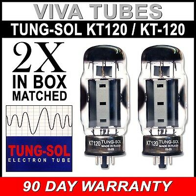 Brand New Factory Matched Pair (2) Tung-Sol Reissue KT120 / KT-120 Vacuum Tubes
