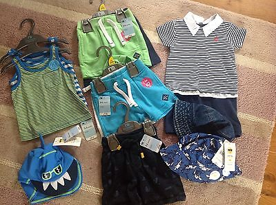 HUGE NEW Summer Baby 11X Bundle Vests Shorts Hats Holiday 3-6 Months Rrp £49