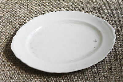 Antique Ironstone Platter - Crown Potteries Co White Ironstone Plate Platter Ser
