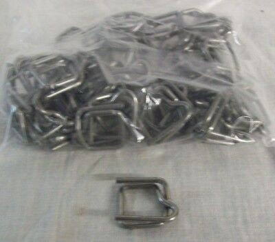 """Store Display Fixtures 50 NEW METAL BUCKLES FOR 1/2"""" POLY STRAPPING"""