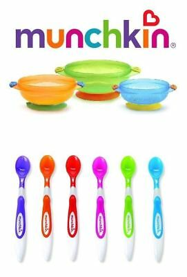 Munchkin Stay Put Suction Baby Bowls and Munchkin Infant Spoons