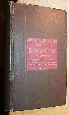 1912 MINIATURE ATLAS BROOKLYN VOLUME 2 E. BELCHER HYDE Coney Island Luna Park