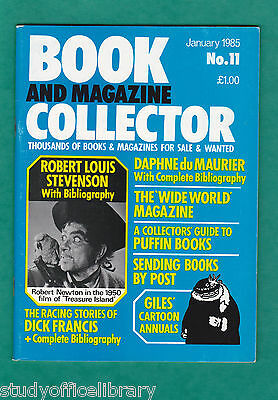 BOOK AND MAGAZINE COLLECTOR No.11 RL Stevenson, Du Maurier, Puffin, Dick Francis