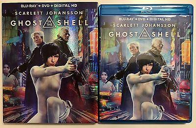 Ghost In The Shell Blu Ray Dvd 2 Disc Set + Slipcover Sleeve Free World Shipping