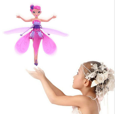 New Flying Fairy Flutterbye Flower Fairy Doll Girls Interactive Toy Perfect Gift