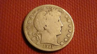 1911-P Barber Liberty Head Half Dollar (ref#1)