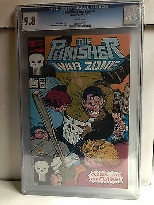 THE PUNISHER WAR ZONE #4 cgc 9.8 1992 Romita Jr.