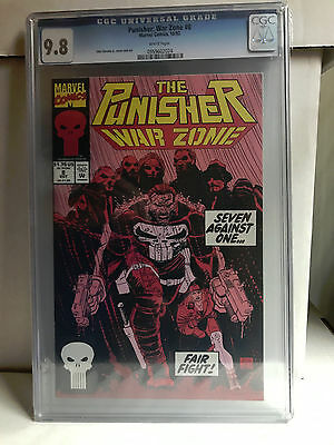 THE PUNISHER WAR ZONE #8 cgc 9.8 1992 Romita Jr.