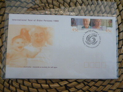 Australia 1999 fdc  International Year of Older Persons full set of stamps
