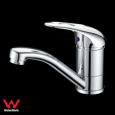 Bathroom Swivel Vanity Basin Mixer Tap Faucet Handle with Hole Brass Chrome WELS