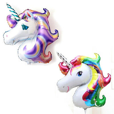 Supershape Rainbow Unicorn Foil Balloon Childrens Birthday Party Decoration NEW